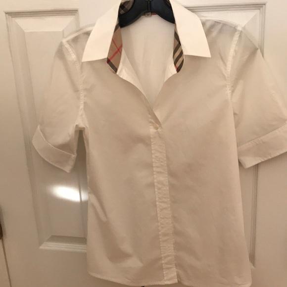Women s White Burberry shirt 12bd1cfd52